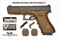 GLOCK G17RTF2 FDE VICKERS TACTICAL 9MM, 17+1, LIPSEY'S EXCLUSIVE