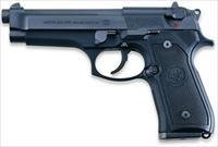 Beretta 92FS Semi-Auto Pistol, JS92F300M, 9mm, Synthetic Grip, Blue Finish, 15 Rd
