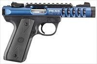 "Ruger 22/45 Lite Rimfire Pistol 3908, 22 LR, 4.4"" Threaded, Black Polymer Grip, Blue Anodized Finish, 10 Rd"