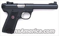 Ruger Mark III 22/45 512MK3 Rimfire Pistol 10107, 22 Long Rifle, 5 1/2 in, Check Polymer Grip, Blue Finish, 10 Rd, Adj Sights