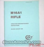 RARE COLT M16 / M16A1 / AR15 / AR-15 FACTORY OPERATIONS AND MAINTENANCE MANUAL