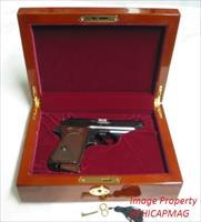 Walther PPK /  PPKS  /PPK-S Burl finished Presentation Display Case