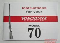 Winchester Model 70 Factory Instruction Manual