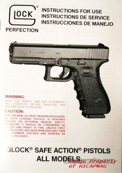 glock factory manual extras 17 19 20 21 22 23 for sale rh gunsamerica com glock 20 specifications glock 20 gen 3 manual