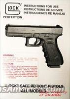 GLOCK Factory MANUAL + EXTRAS 17,19,20,21,22,23,26,27 and all Glocks includes info on the Gun and Magazine