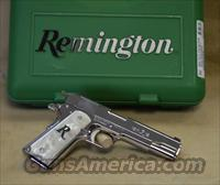 REBATE 96304 Remington 1911 R1 Polished Stainless/White Pearl Exclusive - 45 ACP