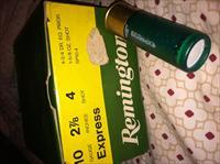 1 BOX OF 25 REMINGTON EXPRESS 10 gauge 2 7/8 inches 4 shot SHOTGUN SHELLS
