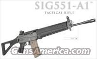 "SIG SAUER 551-A1, NEW, Tactical Rifle, 5.56 (NATO) Caliber, Side Folding Stock,  M1913 Rail, 16"" Barrel, Features Six-Groove Rifling and a Twist Rate of 1:7"", Designed for Special Forces/Black Ops...EXTRA (30) Round Magazines Available..."
