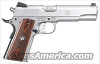 Ruger, SR1911, .45ACP, Stainless Steel, Wood Grips, Fixed Sights, 8-Shot...