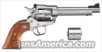 Ruger, Super Single Six, Stainless Steel, Wood Grips, Model #00625, Catalog #KNR-5, .22LR/.22 WMRF, Two Cylinders,