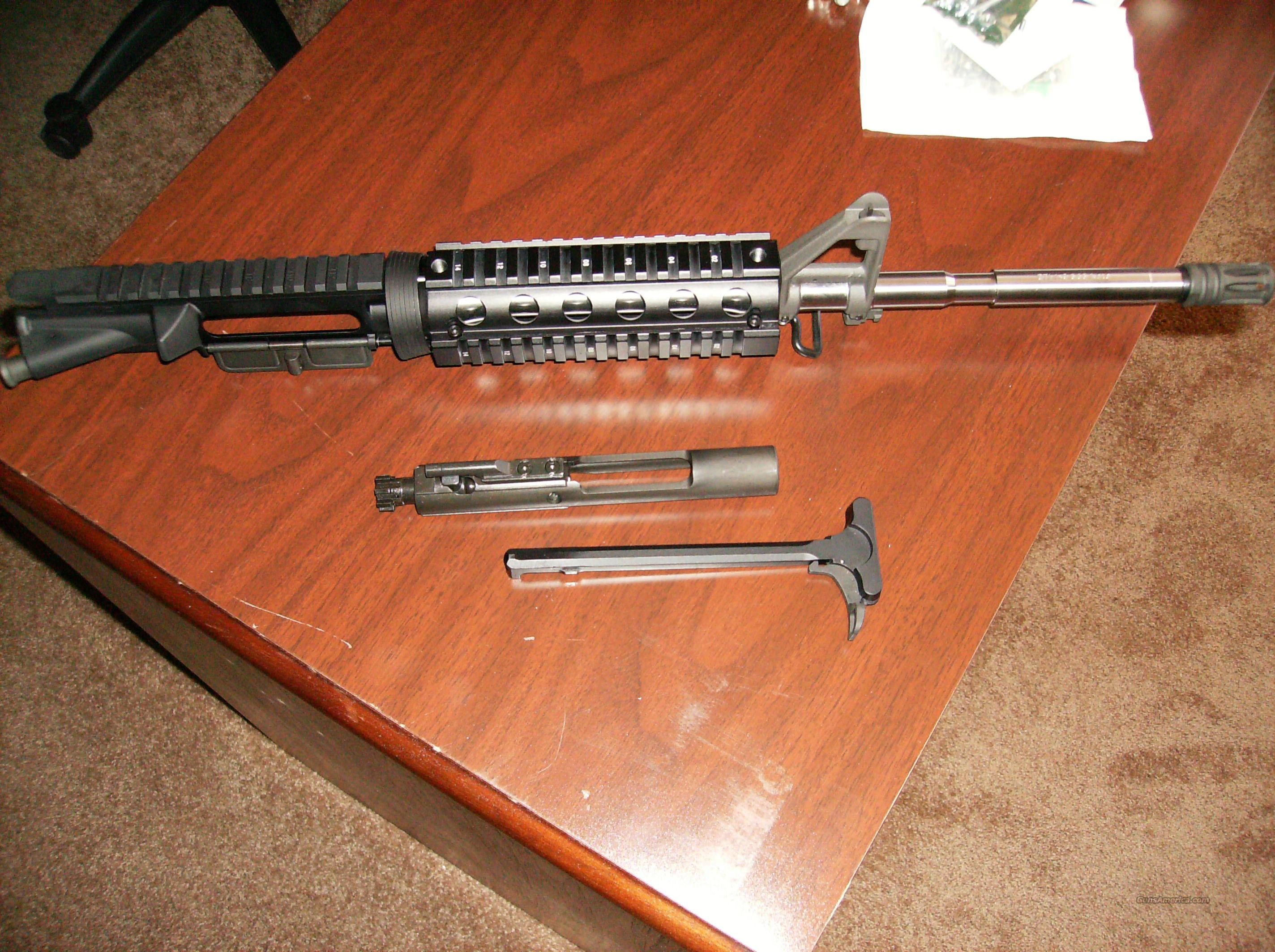 RARE Stainless Delton Mil Spec AR15 Complete Upper W/BCG 1X9 M4 16