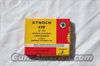 Kynoch 470 Nitro Express ammunition, new old stock
