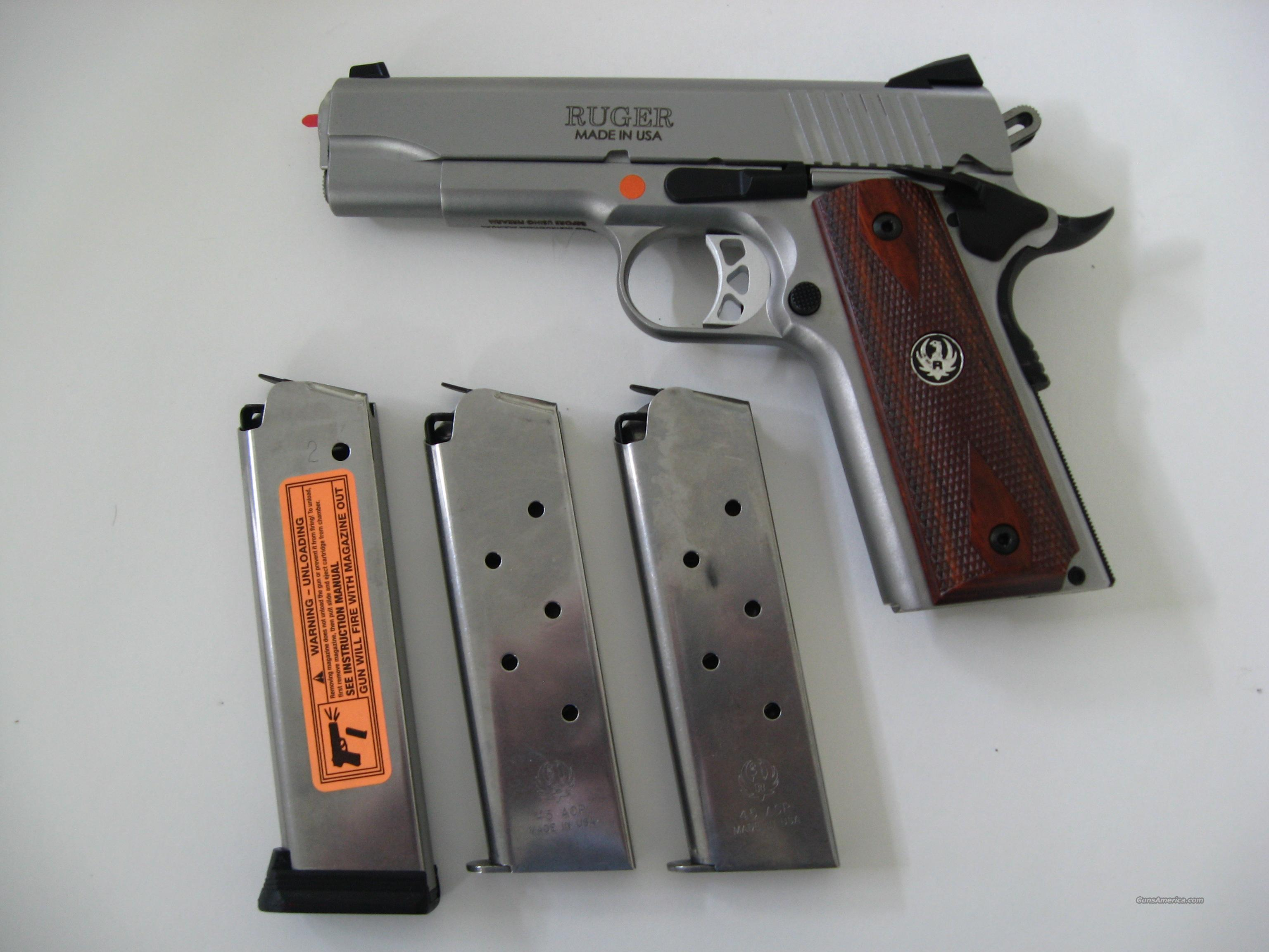 Ruger SR-1911 CMD Commander 45 acp – 3 Mags - New