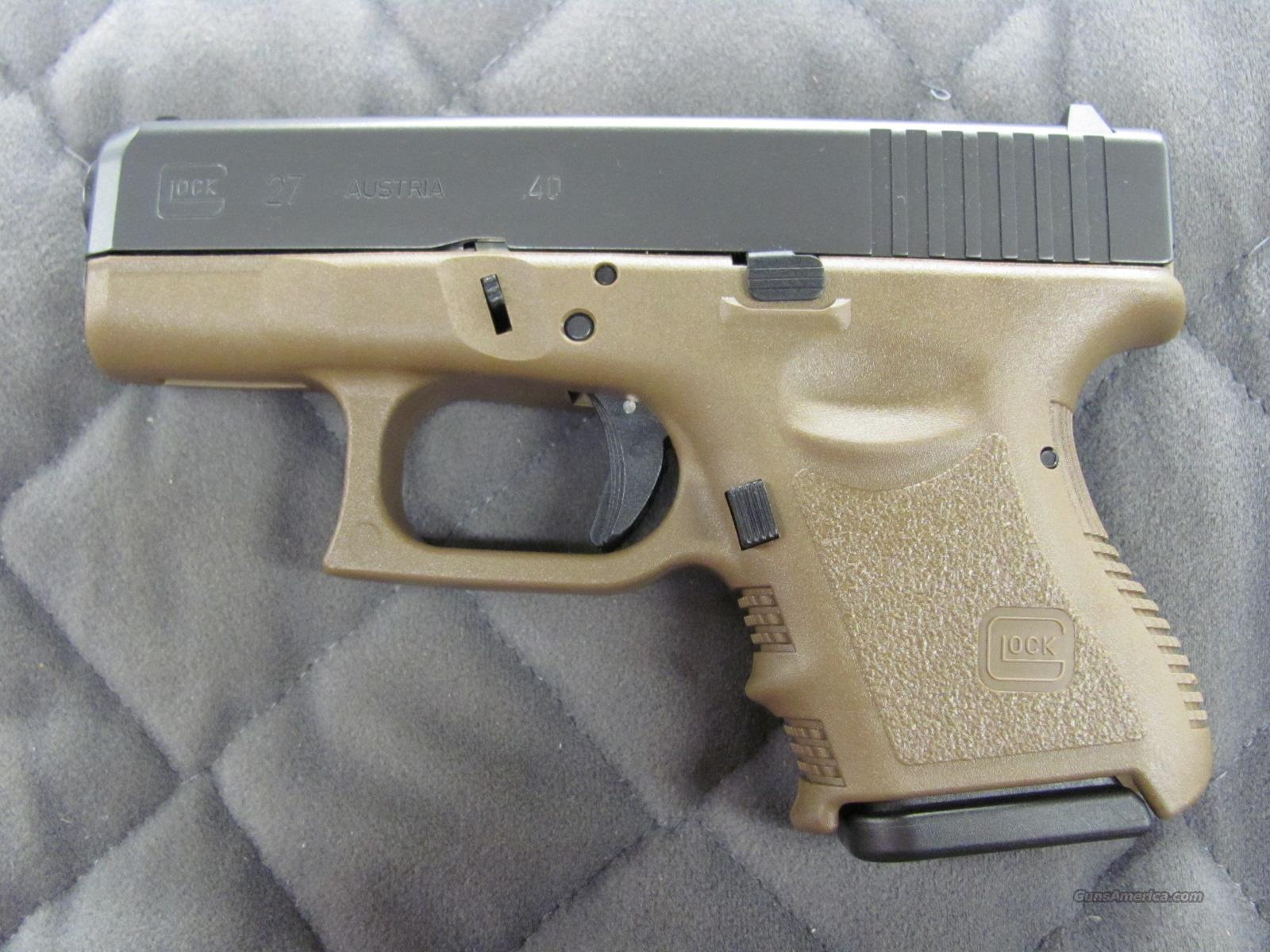 Glock 27 Subcompact Fde 40 S W Flat Dark Earth For Sale