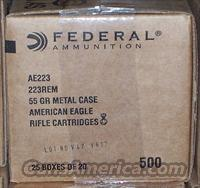 Federal AE 223 55 Grain FMJ BT 500 Rounds
