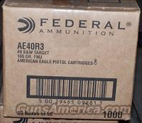 Federal .40 R3 S&W 165 Grain FMJ 1000 Rounds