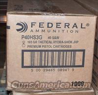Federal .40 P40 HS3G 165 Grain JHP S&W 1000 Rounds