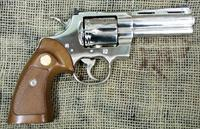 Colt Python, 4 inch barrel, Nickel