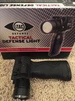 iTAC Tactical Defense Light with Laser and Grip 4 AA 700 Lumen Polymer Black