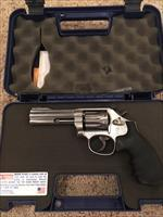 "617 K-22 Masterpiece Stainless, .22LR, 4"" Full lug, 10 shot; box, papers"