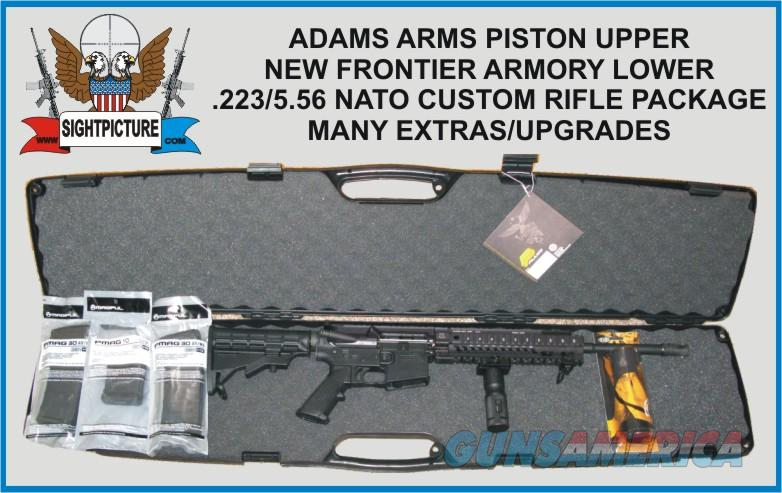 ** CUSTOM ** AR15 ADAMS ARMS PISTON  223/556 NATO UPPER WITH A NEW FRONTIER  ARMORY LOWER COMES WITH FGRIP, SLING, IRON SIGHTS, 1-10 RND & 2-30 RND
