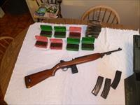 Winchester M1 carbine w/three 30 round mags and 550 rounds of ammo.