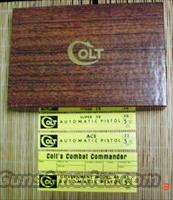 Colt ACE,Combat Commander,Super 38, Gov. Model Vintage Colt Box & Manual 1955-64