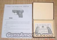 Colt 1908 .25 Cal. Semi-Auto Box & Manual