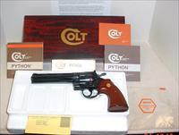 Colt Python 6 inch & 8 inch Wood Grain- Box & PW