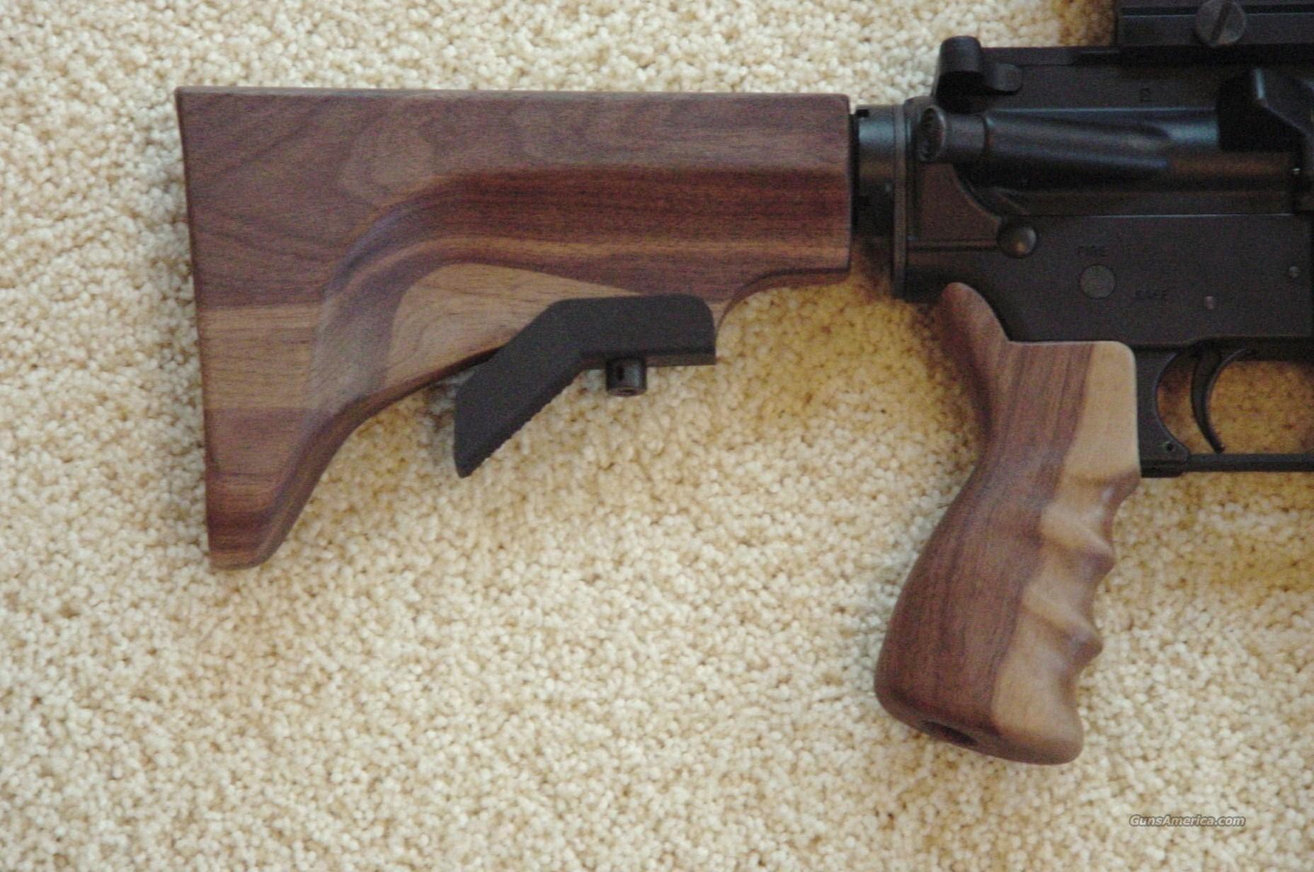 ar 15 wood grip handgaurd buttstock set for sale