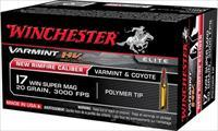 WINCHESTER VMAX 500-Rounds 17 WSM cal.  New!     S17W20     17WSM
