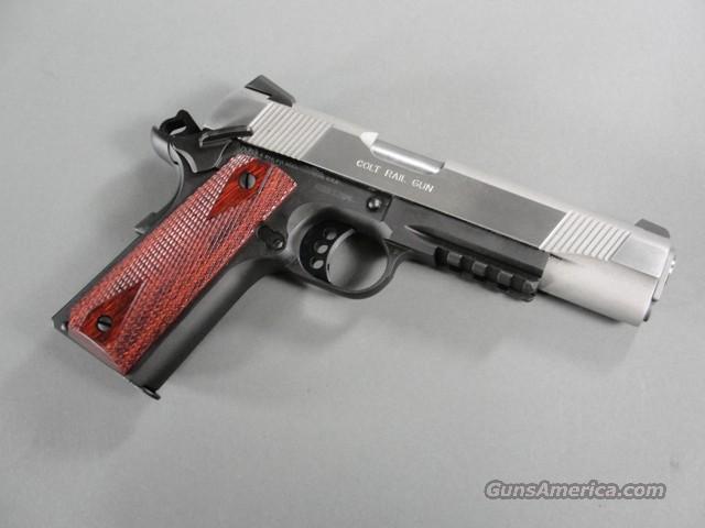 Colt 1911 A1 Enhanced Two-Tone Govt Rail Gun 45 ACP New! 01970RG