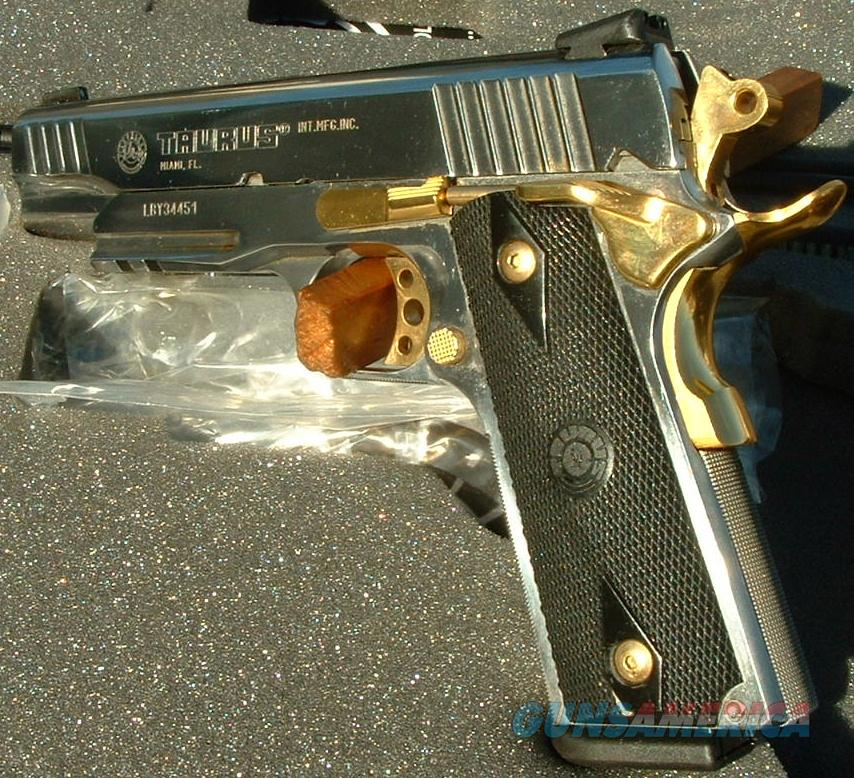 ltd edition taurus 1911 ar stainless w gold c for sale