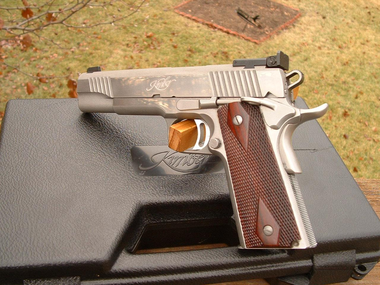 Kimber 1911 classic stainless gold match 45 acp for sale kimber 1911 classic stainless gold match 45 acp exc guns pistols kimber of oregon buycottarizona