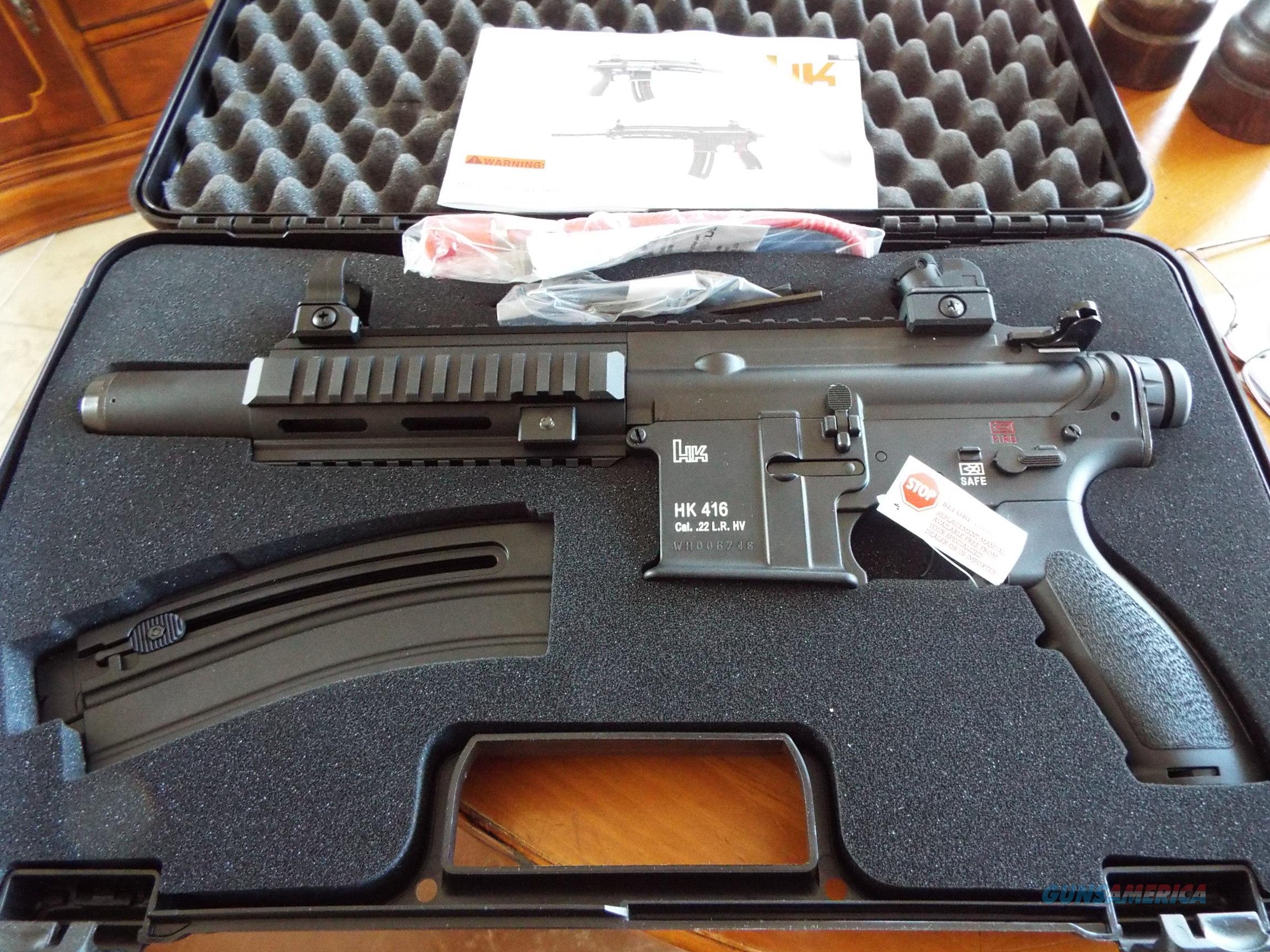 HK 416 High Capacity Pistol 22 LR New! LAYAWAY OPTION 5780303
