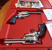 Ruger VAQUERO SASS COWBOY MATCHED SET Stainless      357 Mag       New!      LAYAWAY OPTION      5133