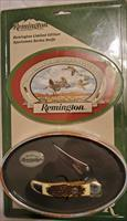 Ltd Edition Remington Folding Knife & Tin Set Sportsman Series GEESE 440 Stainless  New!