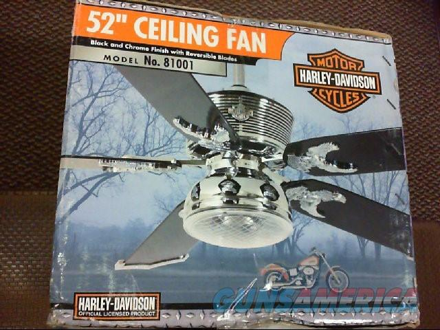 Harley davidson ceiling fan with remote chrom for sale 11207656g mozeypictures Gallery