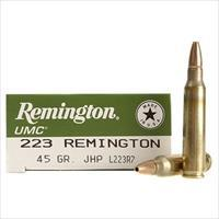 SALE REDUCED Remington UMC Ammunition 223 Remington 45 Grain Jacketed Hollow Point   100-rds     NEW!     JHP    L223R7