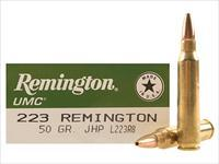 SALE REDUCED Remington UMC Ammunition 223 Remington 50 Grain Jacketed Hollow Point   100-rds     NEW!     JHP    L223R8
