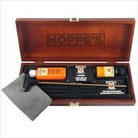 HOPPES  Deluxe Universal GUN CLEANING KIT in WOOD CASE  New!