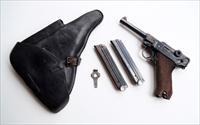 1939 CODE 42 NAZI GERMAN LUGER RIG W/ 1 #MATCHING MAGAZINE