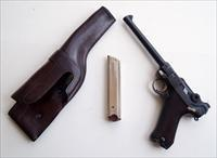 1920 DWM COMMERCIAL NAVY GERMAN LUGER, 9MM W/ CUSTOM HOLSTER