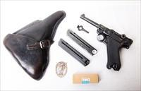 41 BYF BLACK WIDOW GERMAN LUGER RIG / MATCHING MAGAZINE / AMMO