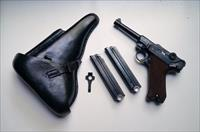 1939 S/42 NAZI GERMAN LUGER RIG W/ 2 #MATCHING MAGAZINE