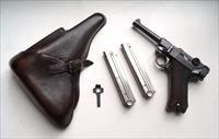 SIMSON / SUHL GERMAN LUGER RIG WITH 2 MATCHING # MAGAZINES