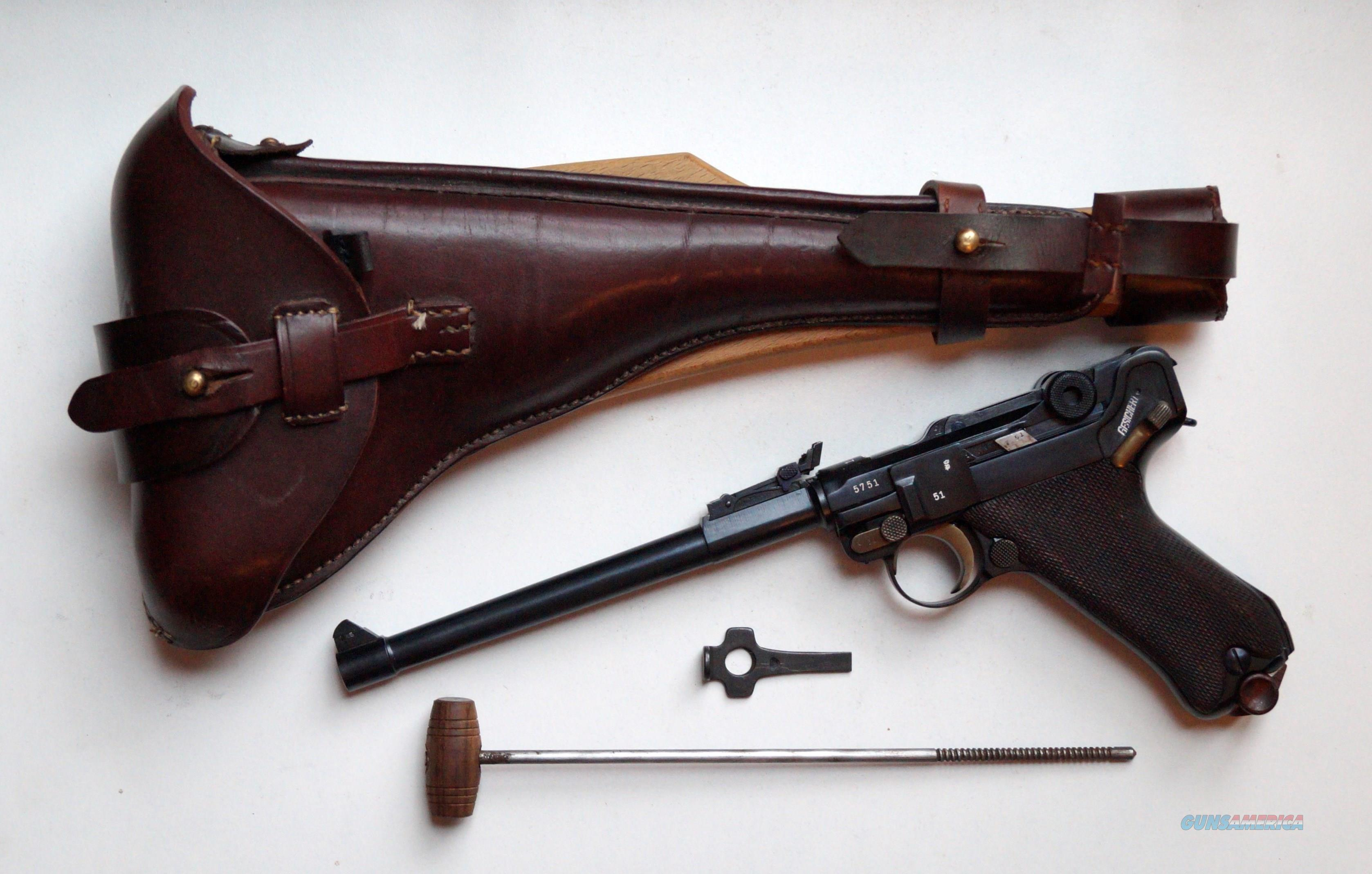 1918 ERFURT MILITARY ARTILLERY GERMAN LUGER RIG W/ MATCHING NUMBERED  MAGAZINE