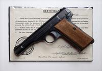 1911 BROWNING F.N. NAZI MARKED W/ CAPTURE PAPERS