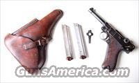 1912 ERFURT MILITARY GERMAN LUGER RIG
