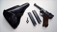 1939 CODE 42 NAZI GERMAN LUGER RIG W/ 2 #MATCHING MAGAZINE
